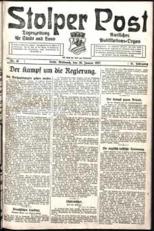 Stolper Post. Tageszeitung für Stadt und Land Nr. 21/1927