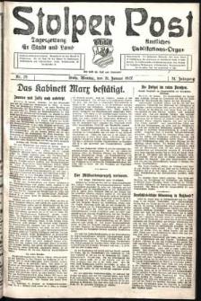 Stolper Post. Tageszeitung für Stadt und Land Nr. 25/1927