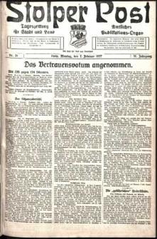 Stolper Post. Tageszeitung für Stadt und Land Nr. 31/1927