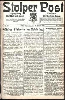 Stolper Post. Tageszeitung für Stadt und Land Nr. 40/1927