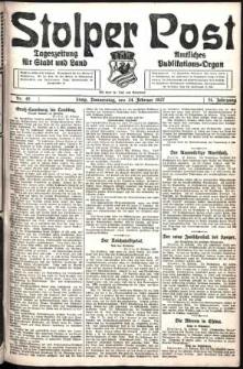 Stolper Post. Tageszeitung für Stadt und Land Nr. 46/1927