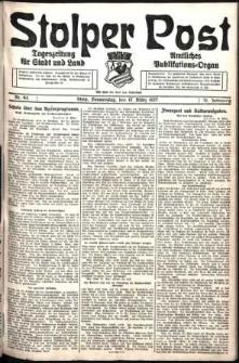 Stolper Post. Tageszeitung für Stadt und Land Nr. 64/1927
