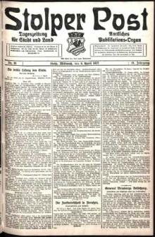 Stolper Post. Tageszeitung für Stadt und Land Nr. 81/1927