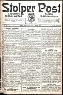 Stolper Post. Tageszeitung für Stadt und Land Nr. 82/1927
