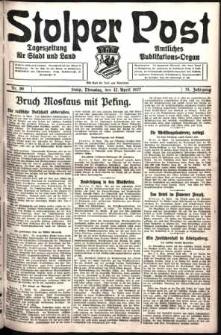 Stolper Post. Tageszeitung für Stadt und Land Nr. 86/1927