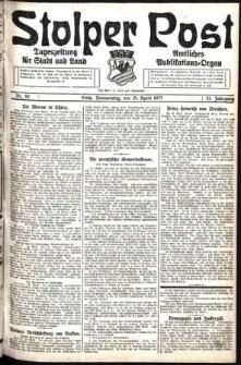 Stolper Post. Tageszeitung für Stadt und Land Nr. 92/1927