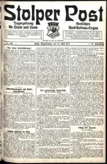 Stolper Post. Tageszeitung für Stadt und Land Nr. 110/1927