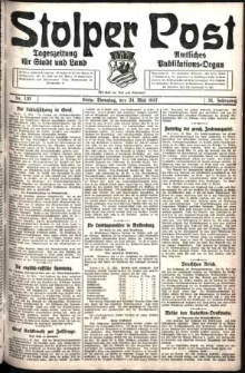 Stolper Post. Tageszeitung für Stadt und Land Nr. 120/1927