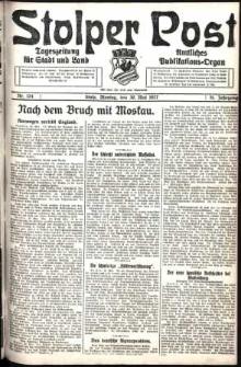 Stolper Post. Tageszeitung für Stadt und Land Nr. 124/1927