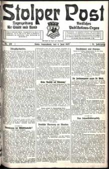 Stolper Post. Tageszeitung für Stadt und Land Nr. 129/1927