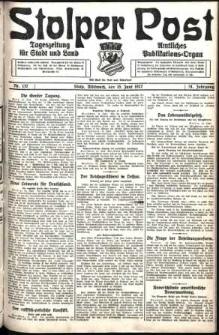 Stolper Post. Tageszeitung für Stadt und Land Nr. 137/1927