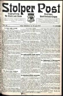 Stolper Post. Tageszeitung für Stadt und Land Nr. 140/1927