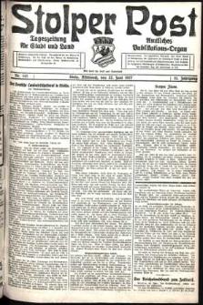 Stolper Post. Tageszeitung für Stadt und Land Nr. 143/1927