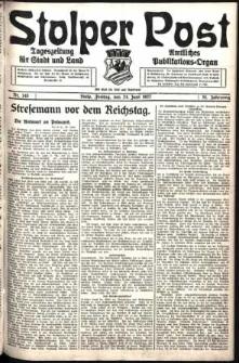 Stolper Post. Tageszeitung für Stadt und Land Nr. 145/1927