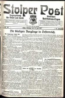 Stolper Post. Tageszeitung für Stadt und Land Nr. 165/1927