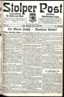 Stolper Post. Tageszeitung für Stadt und Land Nr. 167/1927