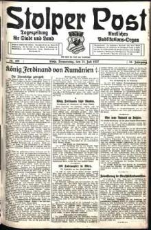 Stolper Post. Tageszeitung für Stadt und Land Nr. 168/1927
