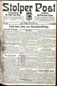Stolper Post. Tageszeitung für Stadt und Land Nr. 169/1927