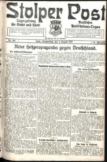 Stolper Post. Tageszeitung für Stadt und Land Nr. 180/1927