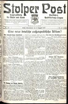 Stolper Post. Tageszeitung für Stadt und Land Nr. 182/1927