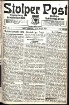 Stolper Post. Tageszeitung für Stadt und Land Nr. 186/1927