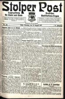 Stolper Post. Tageszeitung für Stadt und Land Nr. 196/1927