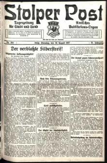 Stolper Post. Tageszeitung für Stadt und Land Nr. 202/1927
