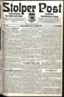 Stolper Post. Tageszeitung für Stadt und Land Nr. 203/1927