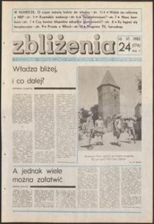 Zbliżenia : tygodnik społeczno-polityczny, 1983, nr 24