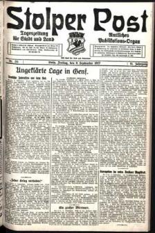 Stolper Post. Tageszeitung für Stadt und Land Nr. 211/1927
