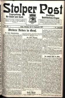 Stolper Post. Tageszeitung für Stadt und Land Nr. 213/1927