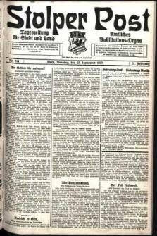 Stolper Post. Tageszeitung für Stadt und Land Nr. 214/1927