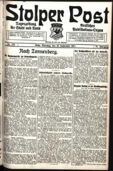 Stolper Post. Tageszeitung für Stadt und Land Nr. 220/1927
