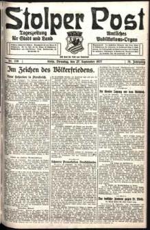 Stolper Post. Tageszeitung für Stadt und Land Nr. 226/1927