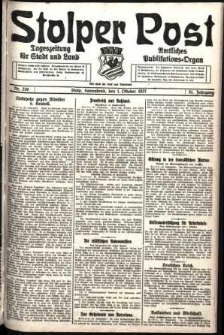 Stolper Post. Tageszeitung für Stadt und Land Nr. 230/1927