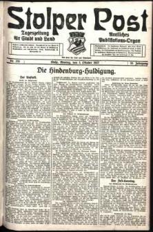 Stolper Post. Tageszeitung für Stadt und Land Nr. 231/1927