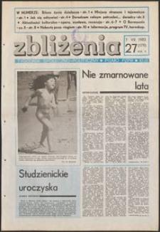 Zbliżenia : tygodnik społeczno-polityczny, 1983, nr 27