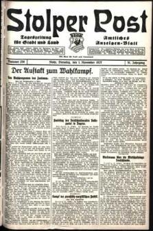 Stolper Post. Tageszeitung für Stadt und Land Nr. 256/1927