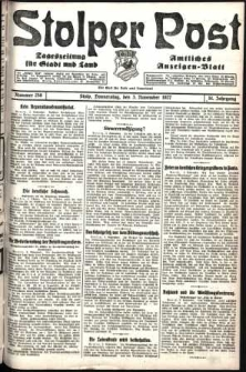 Stolper Post. Tageszeitung für Stadt und Land Nr. 258/1927