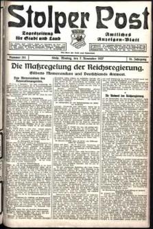 Stolper Post. Tageszeitung für Stadt und Land Nr. 261/1927