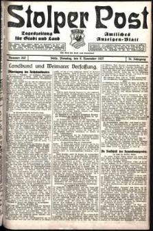Stolper Post. Tageszeitung für Stadt und Land Nr. 262/1927