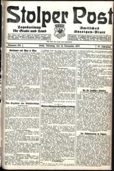 Stolper Post. Tageszeitung für Stadt und Land Nr. 268/1927