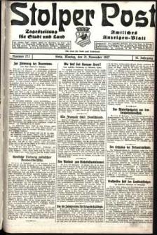 Stolper Post. Tageszeitung für Stadt und Land Nr. 272/1927