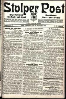 Stolper Post. Tageszeitung für Stadt und Land Nr. 275/1927