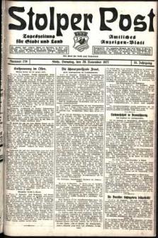 Stolper Post. Tageszeitung für Stadt und Land Nr. 279/1927
