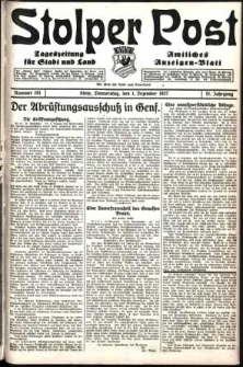 Stolper Post. Tageszeitung für Stadt und Land Nr. 281/1927