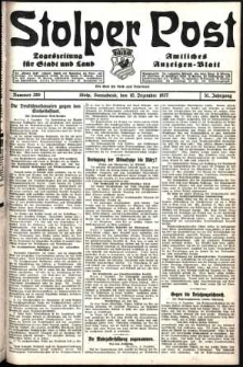 Stolper Post. Tageszeitung für Stadt und Land Nr. 289/1927