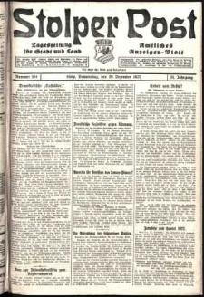 Stolper Post. Tageszeitung für Stadt und Land Nr. 304/1927