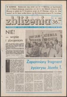 Zbliżenia : tygodnik społeczno-polityczny, 1983, nr 36