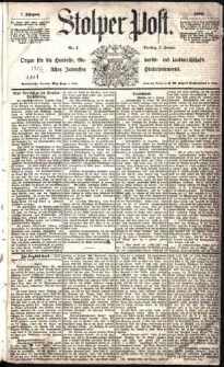 Stolper Post Nr. 1/1883